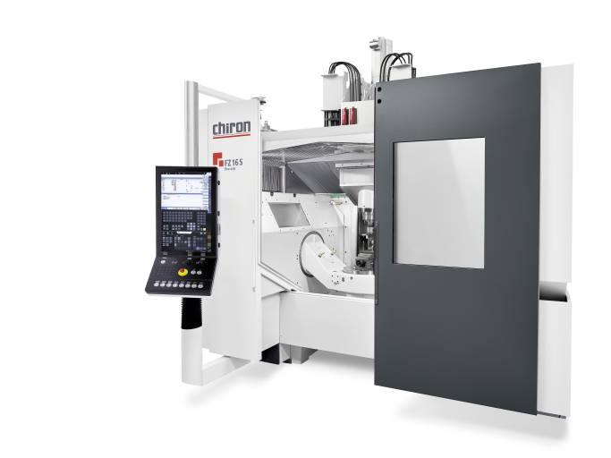 Die Chiron FZ 16 S five axis vereint hochgenaue 5-Achs-Bearbeitung mit verbesserter thermischer Stabilität bei einer hohen Oberflächengüte und Maßgenauigkeit der zu produzierenden Werkstücke.