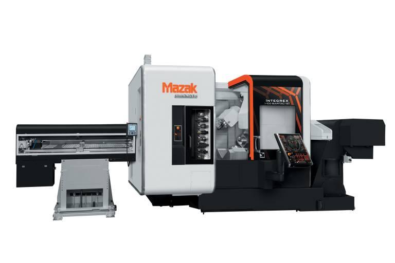 Die INTEGREX i-100 BARTAC ST ist für die Bearbeitung runder und quadratischer Werkstücke in einer Aufspannung geeignet.