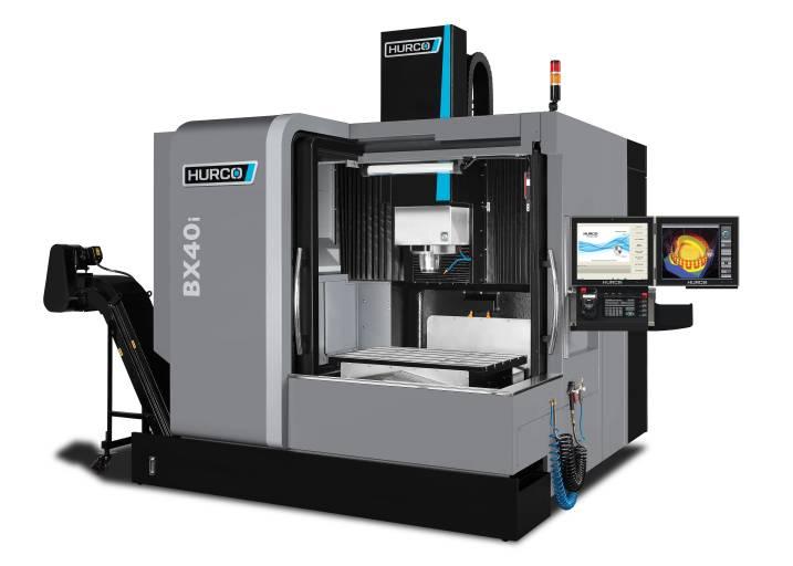 Mit den Bearbeitungszentren der Baureihe BX wendet Hurco sich an Kunden, die hochpräzise Bauteile fertigen, z. B. im Werkzeug- und Formenbau.