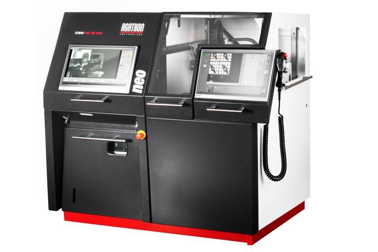 Eines der EMO-Highlights von Agathon: die automatisierte Version der Laserbearbeitungsmaschine Neo.