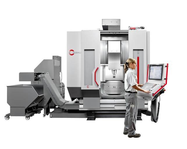 Auf der EMO live zu sehen: 5-Achsen Bearbeitungszentrum C 32 U dynamic mit dem Schwenkrundtisch Ø 650 x 540 und der Steuerung TNC 640.