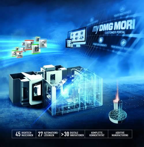 DMG MORI präsentiert auf der diesjährigen EMO in Hannover Automatisierungs- und Digitalisierungslösungen live in Halle 2.