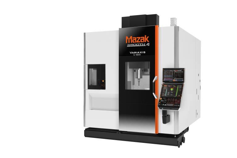 Yamazaki Mazak stellte sein neues vertikales 5-Achsen-Bearbeitungszentrum VARIAXIS C-600 auf der EMO 2019 weltweit zum ersten Mal dem Fachpublikum vor.