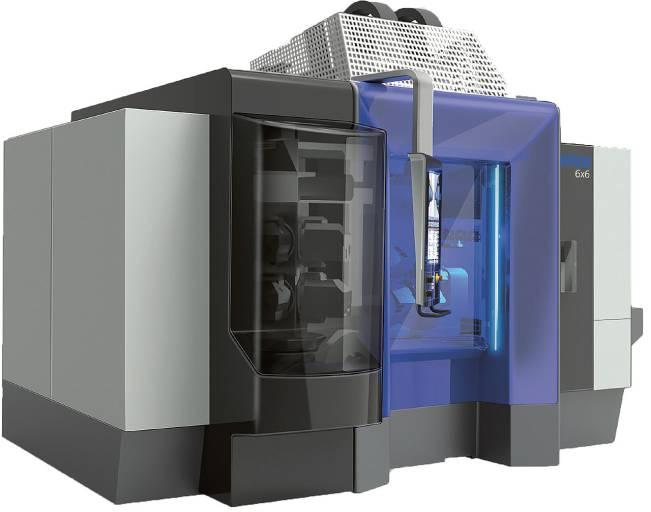 Eine Maschine, über 102 Kombinationsvarianten: Der Werkzeugmaschinen-Baukasten Mikron 6x6 ermöglicht wirtschaftliche Lösungen für jede Applikation – mit einer einfachen Bedienung und geringem Flächenbedarf.