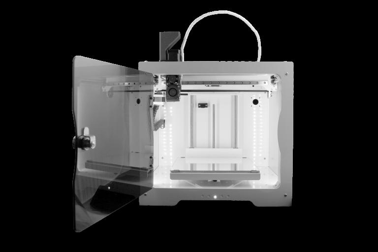 Der Voladora Pellet-3D-Drucker von Tumaker arbeitet mit einer Düsentemperatur von 180° bis 350° C und mit einer Druckplattentemperatur von 45° bis 100° C.