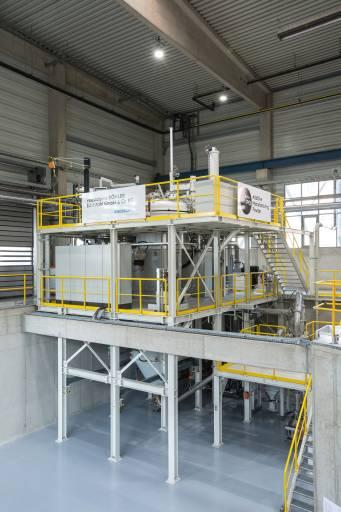 Die neue Produktionsanlage am Standort in Kapfenberg.