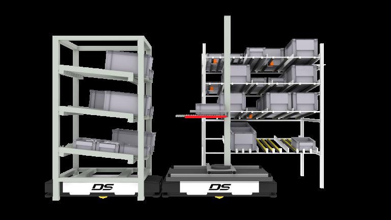 Das von Identytec und DS Automotion gemeinsam weiterentwickelte System ID.ADD® erkennt, wo Bedarf vorliegt und sorgt vollautomatisch für die Nachversorgung der Produktionsregale mittels fahrerloser Transportfahrzeuge.