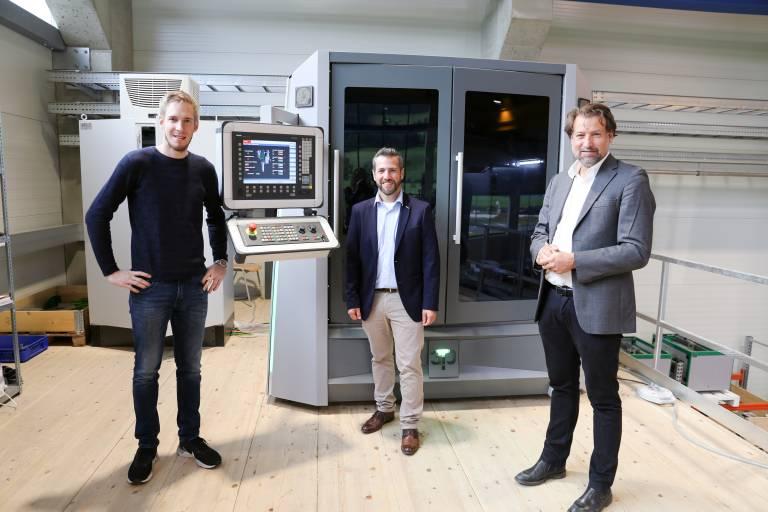Produktive Zusammenarbeit (v.l.n.r.:) Klaus Baumgartner (Leiter der technischen Entwicklung bei Hage3D), Michael Weingrill (Verkaufsleiter Österreich bei der Fritz Kübler GmbH) und Thomas Janics (Geschäftsführer von Hage3D) arbeiten gut und gerne zusammen.