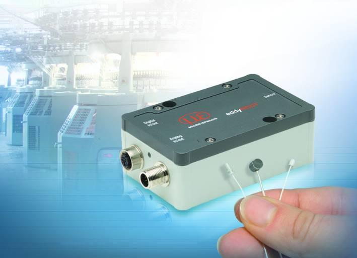 Das Wirbelstrommesssystem eddyNCDT 3070 ist für kleine Messbereiche unter 1 mm konzipiert.
