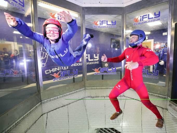 Am iFly-Standort Milton Keynes wird die Windgeschwindigkeit der Indoor-Skydiving-Tunnel durch vier leistungsstarke und zuverlässige drehzahlvariable Antriebe von Mitsubishi Electric geregelt. (Quelle: iFLY)
