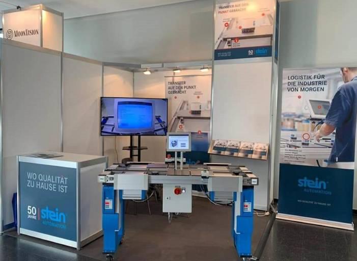 STEIN Automation zeigt auf der all about automation in Friedrichshafen Lösungen für den effizienten Werkstückträger-Transfer. Bildnachweis: STEIN Automation