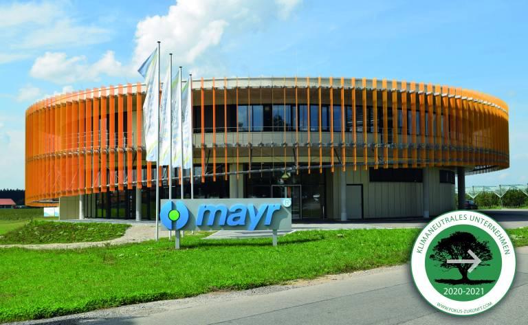 Das renommierte Familienunternehmen Mayr Antriebstechnik aus Mauerstetten im Allgäu legt Wert auf Nachhaltigkeit und Klimaschutz und ist seit 2020 klimaneutral. Bild: mayr® Antriebstechnik