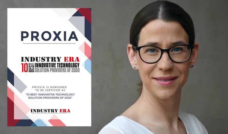 """Die Proxia Software AG wurde mit dem """"10 Best Technology Solution Providers of 2020"""" Award des Industry Era Magazine (USA) für seine neue Produktlösung Maßnahmenmanagement und der innovativen XI-Gateway Technologie ausgezeichnet."""