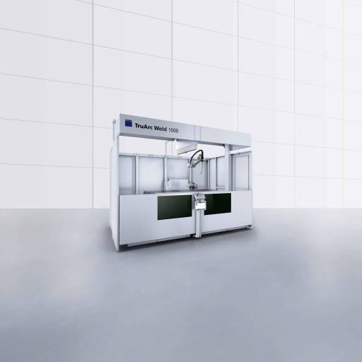 Handschweißen einfach automatisieren: Die TruArc Weld 1000 arbeitet schon bei kleinen Losgrößen profitabel, ist intuitiv programmierbar und kann anschließend von Ungelernten Mitarbeitern bedient werden.