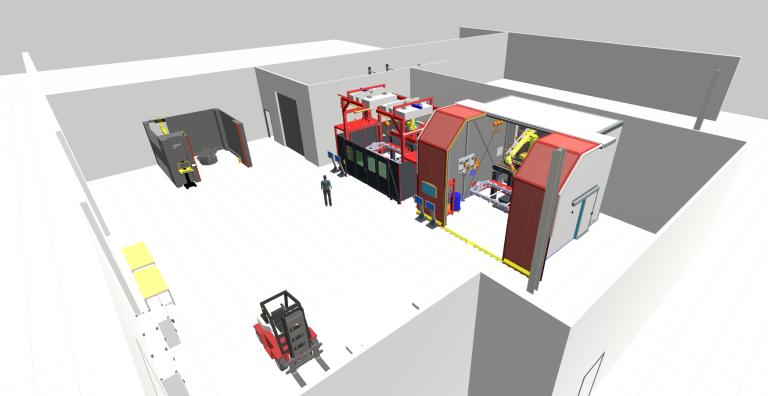 Das neue Prototypenzentrum in Wels mit einer Gesamtfläche von über 900 Quadratmetern umfasst zwei Schweißzellen mit MIG-CMT und LaserHybrid Technologie, sowie einem optischen Messsystem. Bauteile mit Abmessungen von bis zu 3x2 Meter können hier verarbeitet werden.