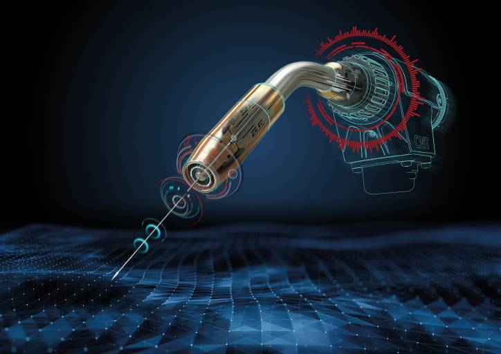 Mit den Assistenzsystemen fürs Roboterschweißen von Fronius wird der Draht zum Sensor. (Bilder: Fronius International)