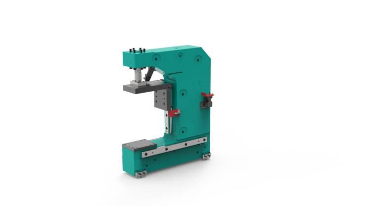 Tox Pressotechnik liefert den neuen CMB-Pressenbügel auch im Paket mit anwendungsspezifischem Zubehör.