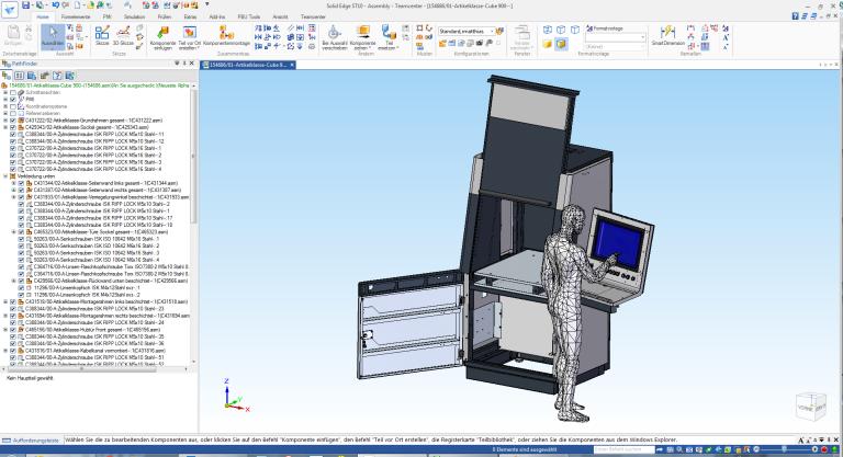 Schinko verwendet Solid Edge für die Konstruktion sämtlicher Gehäuse. Dass auch der Industriedesigner für Entwurf und Ergonomieüberprüfung mit Solid Edge 3D-Modelle erstellt, reduziert den Überleitungsaufwand und verkürzt die Time-to-Market. (Bilder: Schinko)
