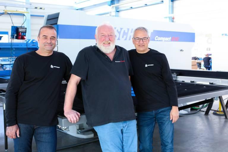 Das Boschert-Trio: Die beiden Geschäftsführer Jean-Sébastien Sitter (links) und Manuel Lang (rechts) sowie Inhaber Peter Kunz.