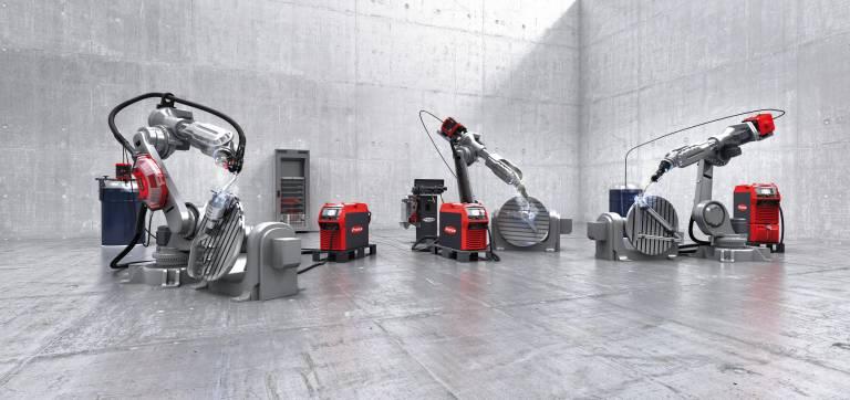 Die zukunftsorientierte Schweißgeräteplattform TPS/i Robotics von Fronius ermöglicht innovativste Schweißprozesse wie LSC, PMC oder PCS.