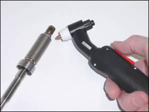 Ausführung mit ergonomischem Handgriff u. Schalter Bildquelle: Plasmatechnik Markus Colling GmbH & Co. KG