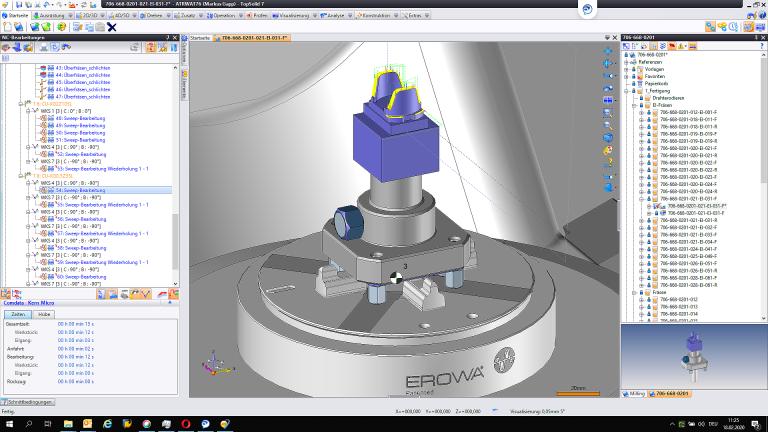 Bei Hirschmann Automotive werden NC-Programme zum Bearbeiten von Elektroden in TopSolid'Cam erstellt. Da die Elektroden mit TopSolid'Electrode konstruiert werden, wird eine optimale Durchgängigkeit im Betriebsmittelbau erreicht.