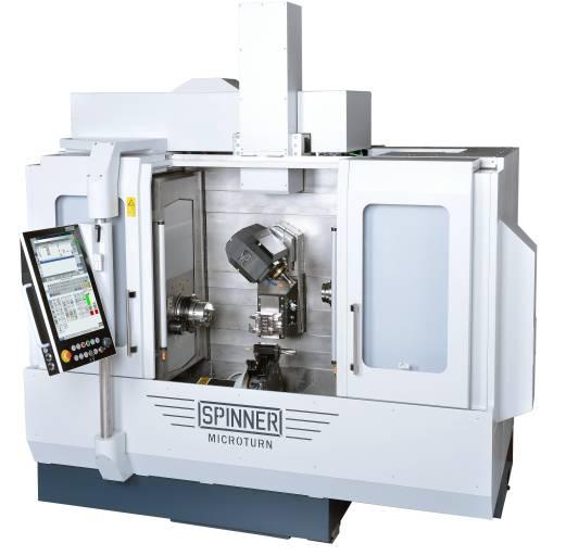 Die Ultrapräzisionsdrehmaschine MICROTURN von Spinner gibt es jetzt auch mit Gegenspindel zur Komplettbearbeitung.