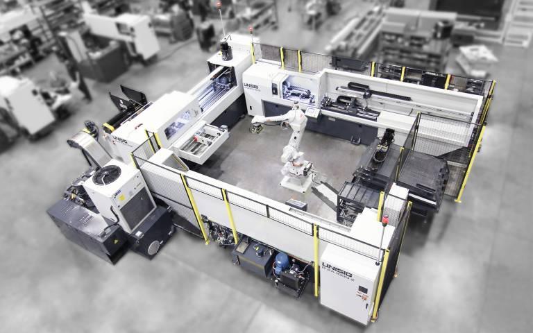 Die automatisierte Unisig-Zelle ermöglicht DRG Manufacturing Produktionssteigerungen von etwa 150 % gegenüber manuellen Abläufen.