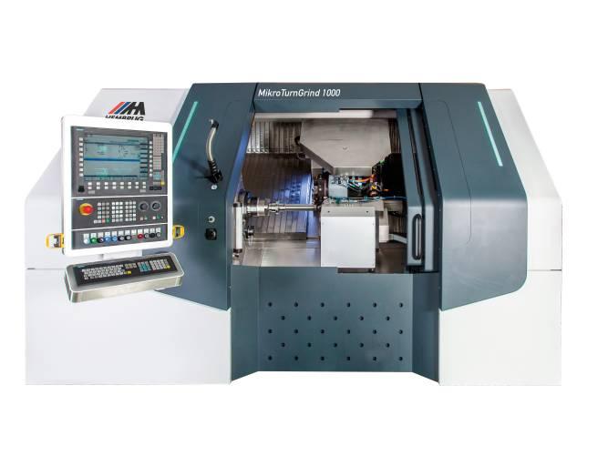 Die MikroTurnGrind 1000 ist geeignet für Kleinserienteile mit mehreren Oberflächen und Anforderungen an die Präzision im Sub-Mikrometerbereich.