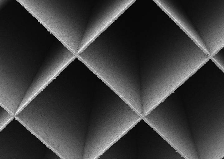 Mit dem AMCM M 290 Upgrade können Anti-Scatter-Grids (Streustrahlenraster) mit Wandstrukturen von 100 µm erzeugt werden.