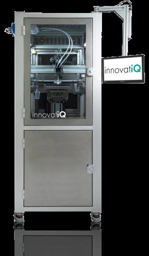 Ab Juli 2021 wird mit dem LiQ 320 von innovatiQ ein 3D-Drucksystem zur Verarbeitung von Flüssig-Silikonen bei Arburg im Kundencenter Loßburg präsentiert. Neu ist die Industrie-Steuerung des Systems. Mit dieser intuitiven Mensch-Maschine-Schnittstelle (HMI) wird ein noch schnellerer Zugriff auf alle für den Druckauftrag wesentlichen Parameter möglich. (Bild: innovatiQ)