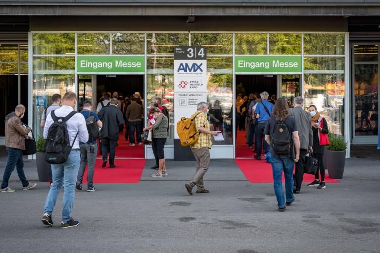 Die AM Expo und Swiss Medtech Expo als Live-Veranstaltung in Kombination mit ihren digitalen Kanälen stießen auf großes Interesse. (Bild: Messe Luzern)
