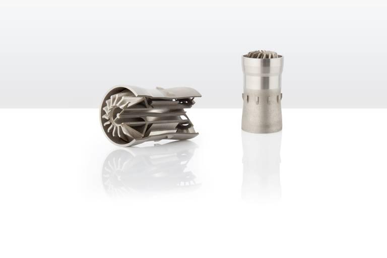 3D-gefertigter Turbinen-Bauteil. (Bild: Rosswag)
