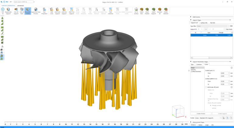 Die Software erstellt automatisch Stützgeometrien für die mircoArch 3D-Drucker von BMF.  (Bild: BMF Precision Inc.)