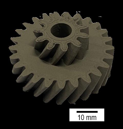 Additiv gedrucktes Zahnrad aus MAR-M247-Legierung. (Bild: NMB)