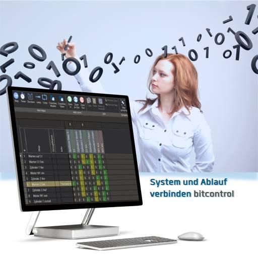 Ablauflogik und System werden über das BitControl vollständig und einfach formuliert.