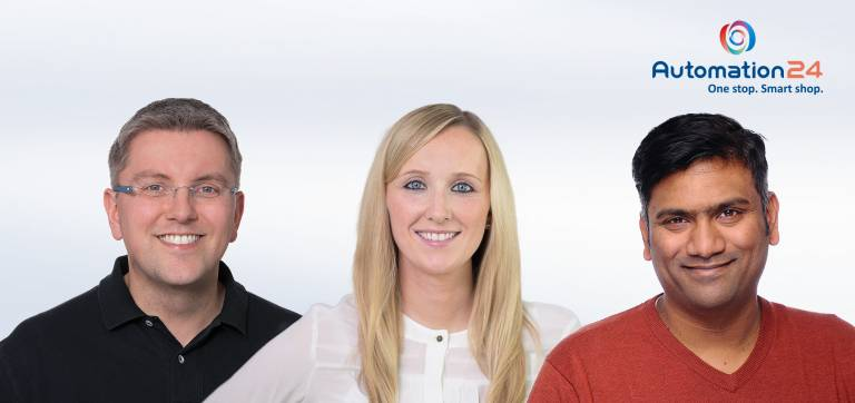 Trio statt Duo an der Unternehmensspitze: Die Geschäftsführung von Automation24 besteht seit dem Zusammenschluss mit Visaya aus Thorsten Schulze, Katharina Messerschmidt und Madhu Venkatesan (v.l.n.r.).