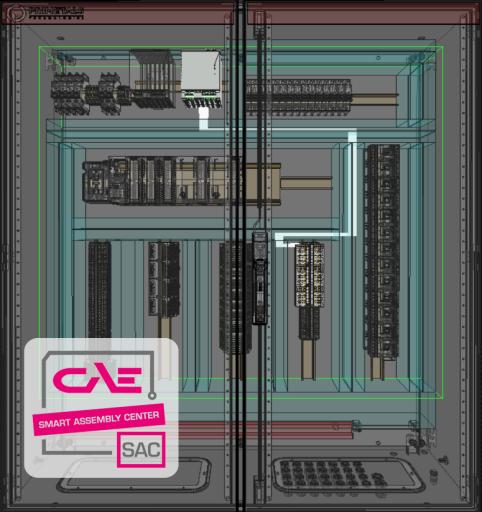Durchgängige Digitalisierung: Mit dem SAC werden Daten aus der Konstruktion direkt in der Schaltschrankfertigung verwendet.