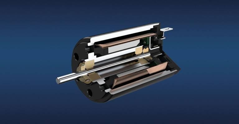 DC-Kleinstmotor mit Edelmetallkommutierung. Solche Motoren eignen sich besonders für die Zoom- und Fokus-Verstellung. (Bild: Faulhaber)