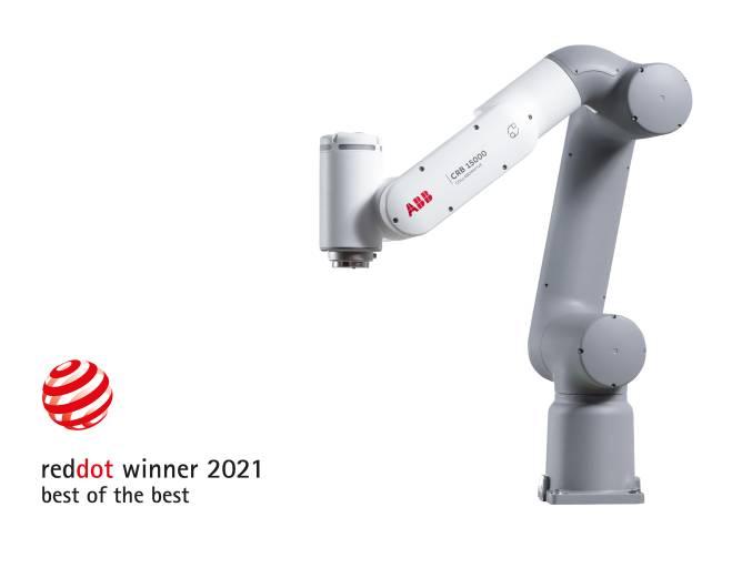"""Der neue Cobot GoFa von ABB ist mit dem renommierten Red Dot Award """"Best of the Best"""" ausgezeichnet worden. Die Jury würdigte sein innovatives, zugängliches Design."""