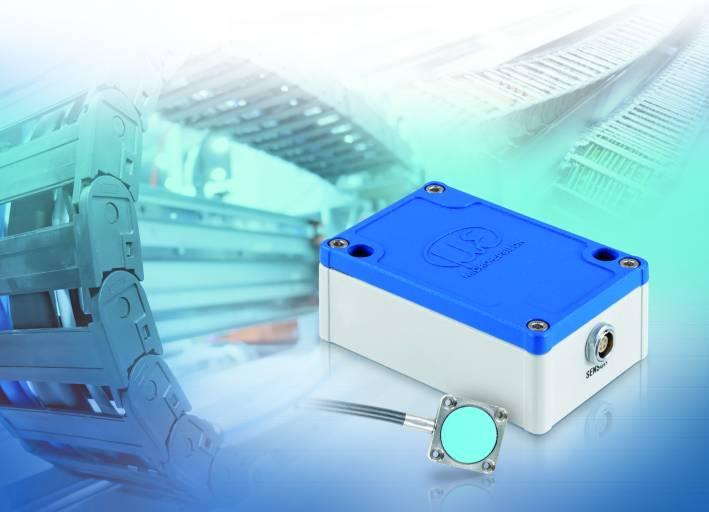 Beim capaNCDT 61x4-Sensor werden die Messdaten über die RS485-Schnittstelle oder über einen Analogausgang ausgegeben.