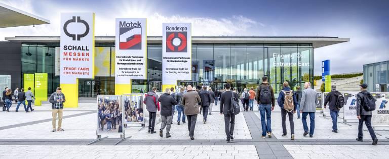 Die Branche freut sich auf das traditionelle Messeduo, die 39. Motek – Internationale Fachmesse für Produktions- und Montageautomatisierung und die 14. Bondexpo – Internationale Fachmesse für Klebtechnologie.