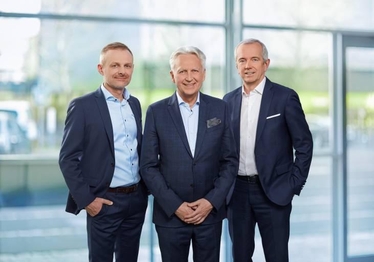 Keba-Vorstand (v.l.n.r.): Andreas Schoberleitner (CFO), Gerhard Luftensteiner (CEO), Franz Höller (CTO)