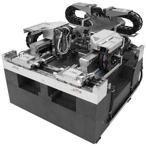 Die TELICA-Plattformen von Etel ermöglichen die Produktion von bis zu 10.000 Halbleiterelementen pro Stunde bei einer Positioniergenauigkeit von 1μm. (Bild: Etel S.A.)