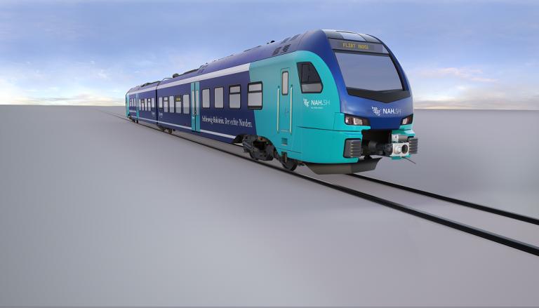 55 neue Batterie-Elektrotriebzügen (BEMU) des Nahverkehrsverbundes Schleswig-Holstein (NAH.SH) werden mit Traktionsumrichter und Energiespeichersysteme auf Basis von Lithium-Ionen-Batteriezellen von ABB ausgestattet sein. (Bild: Stadler)