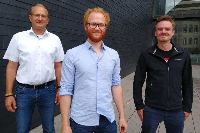Das Team des neu gegründeten Joint Ventures Endress+Hauser BioSense: v. l. Geschäftsführer Dr. Nicholas Krohn, Dr. Stefan Burger und Dr. Martin Schulz.
