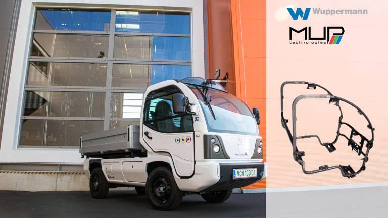 Wuppermann produziert den Kabinenrahmen für vollelektrische Kommunalfahrzeuge des österreichischen Startups MUP.