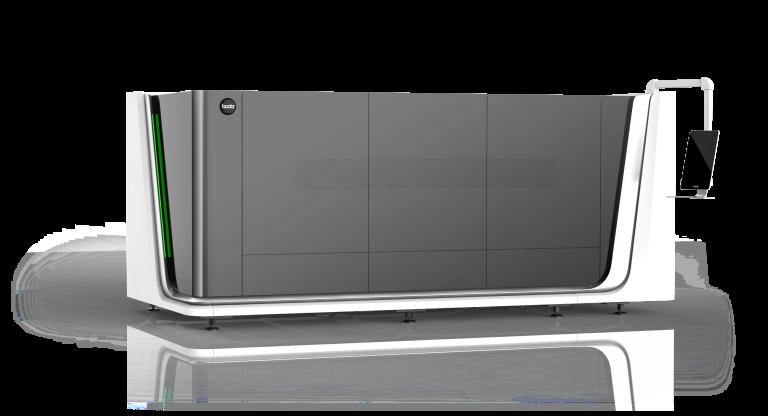 Im Laser-Einstiegs-Segment bietet Bodor unter anderem die Kompakt-Laserzelle i7 bis 4 kW Leistung an.