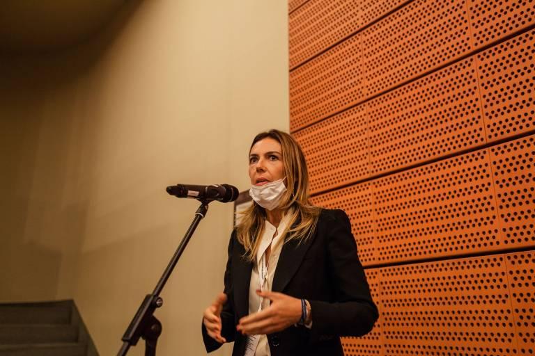 Barbara Colombo, Präsidentin von Ucimu – Sistemi per produrre, blickt positiv in die Zukunft.
