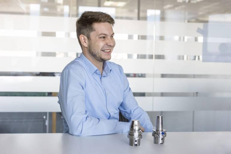 """""""Das Spannfutter wird mehr und mehr zum anwendungsorientierten Leistungsträger.""""  Dennis Minder, Global Head of Product and Application Management Clamping Technology"""